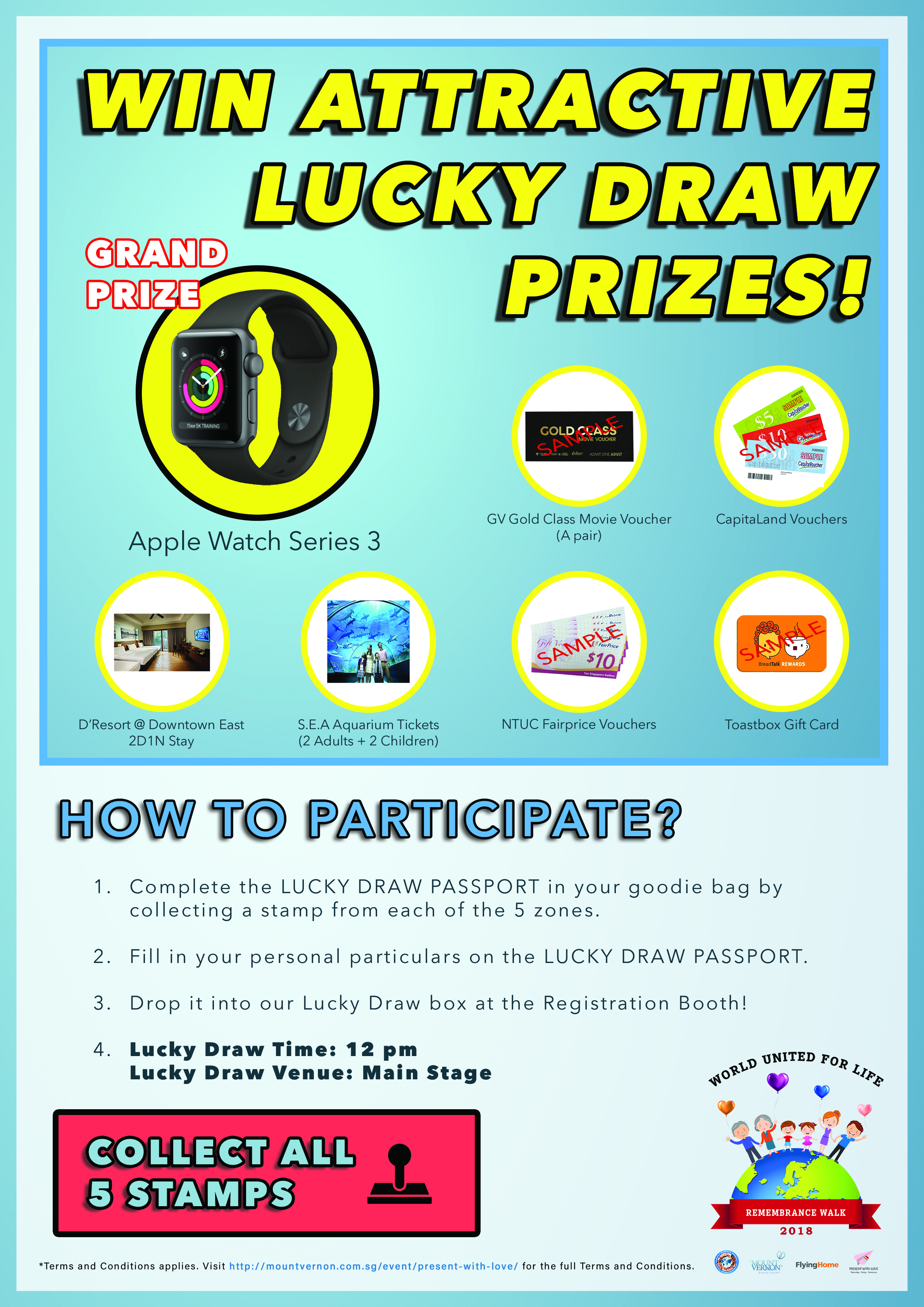 Win attractive lucky draw prizes!!!